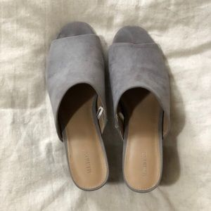 Target Merona Purple/Grey Mule lightly worn sz 9